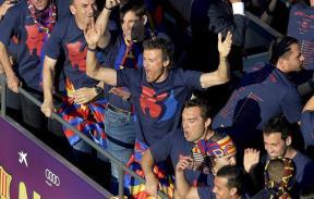 إحتفالية جماهير برشلونة بدوري الأبطال