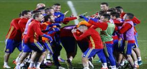 استعدادات منتخب اسبانيا لمواجهة مقدونيا