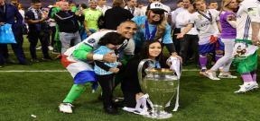 احتفال نجوم ريال مدريد مع أطفالهم