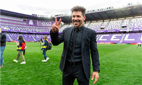 فرحة أتلتيكو مدريد بالفوز بالليجا