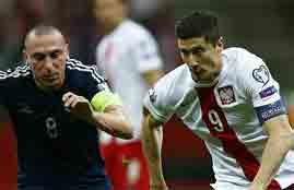 أهداف مباراة بولندا وإسكتلندا