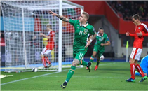 هدف إيرلندا فى مرمى النمسا