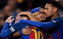 خماسية مباراة برشلونة واسبانيول