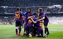 ثلاثية برشلونة في ريال مدريد