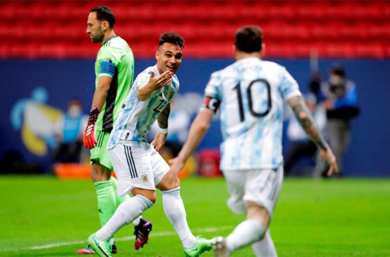 هدفا مباراة الأرجنتين وكولومبيا
