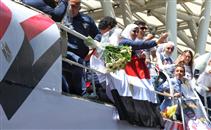 لحظة وصول جيانا فاروق لمطار القاهرة