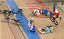 حادث سقوط ابتسام زايد في سباق الدراجات بالأولمبياد