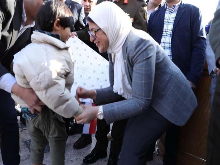 وزيرة الصحة توزع الهدايا