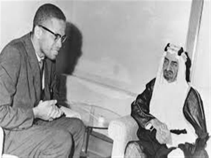 مالكوم إكس أثناء لقاءه مع الملك فيصل
