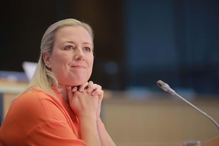 يوتا أوربيلاينين؛ مفوضة الاتحاد الأوروبي للشراكات الدولية