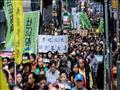 خروج الآلاف في مسيرة بهونج كونج