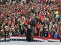 الرئيس الأميركي دونالد ترامب خلال مهرجان انتخابي ف