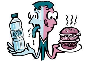 كيف نفرق بين إشارات الشعور بالعطش والجوع؟