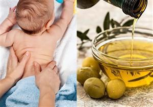 تدليك الرضيع بزيت الزيتون.. مفيد أم مضر؟