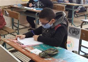 التعليم: طلاب 6 ابتدائي يؤدون امتحان الفصل الدراسي الأول بنسبة حضور 97.7 %