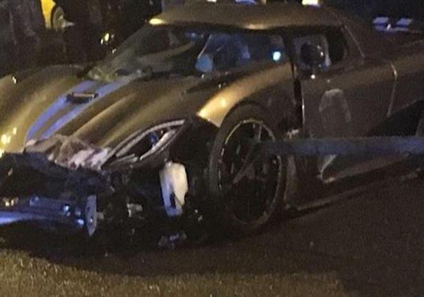 """بالفيديو.. """"الخمر"""" يتسبب في تدمير سيارة بقيمة 13 مليون جنيه"""
