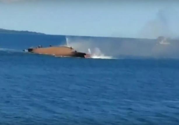 غرق سفينة ركاب تقل عشرات الأشخاص قبالة جزيرة بأندونيسيا