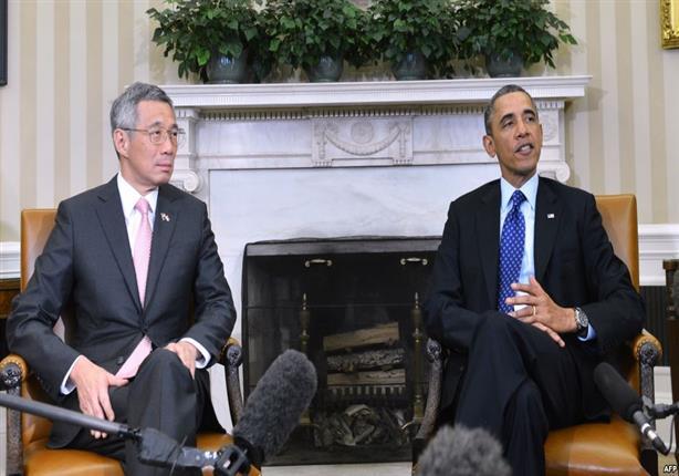 أوباما ورئيس وزراء سنغافورة يحتفلان بمرور 50 عاما على علاقاتهما الدبلوماسية