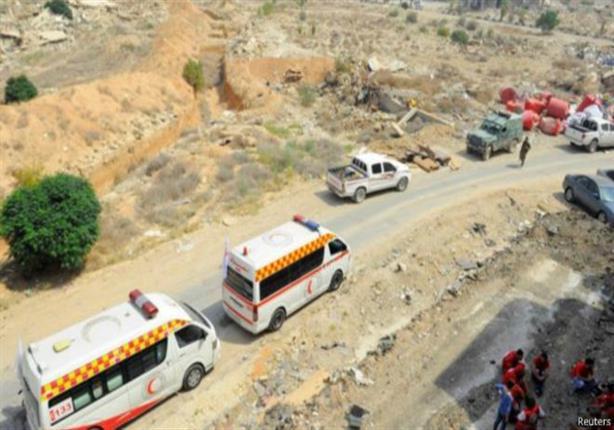 دخول الحافلات وسيارات الهلال الأحمر إلى داريا لتنفيذ اتفاق الخروج منها