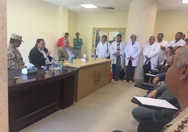 بالصور.. وزير الصحة يضع اللمسات الأخيرة على مستشفى أسوان العام