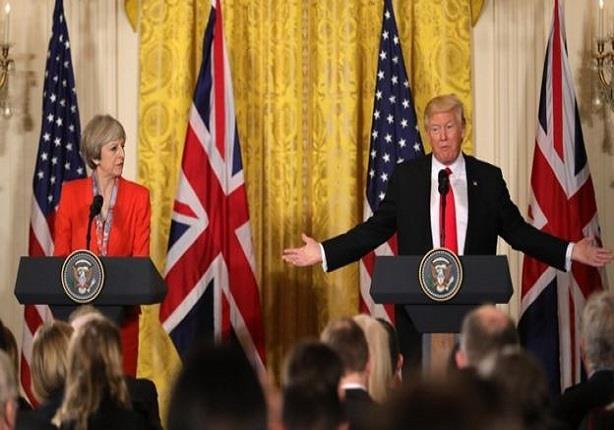 """تيريزا ماي: المباحثات مع الرئيس الأمريكي """"تطور مهم وخصوصا في مجال التجارة"""""""