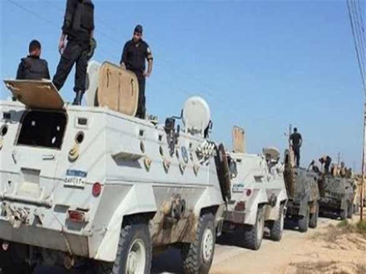 مقتل 3 عناصر تكفيرية واستشهاد مجند في هجوم على مدرعة للشرطة بالعريش