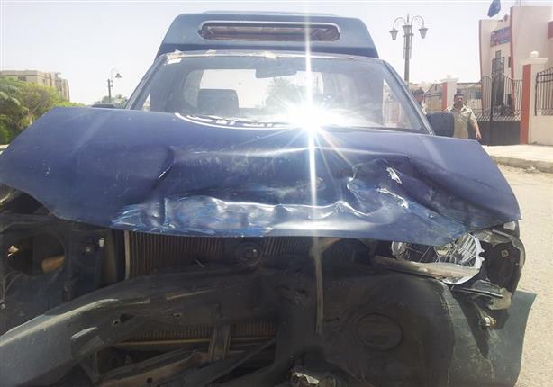 إصابة 3 مجندين في حادث تصادم ببني سويف