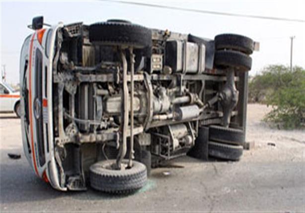 إصابة 9 أشخاص في حادث انقلاب سيارة بكفر الشيخ