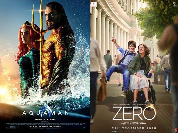 """إيرادات الخميس.. """"Aquaman"""" الأول و""""Zero"""" في المركز الثامن"""