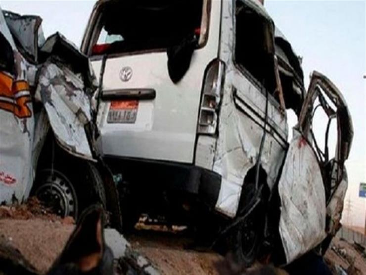إصابة 6 أشخاص في اصطدام سيارة بالسور الحديدي لكوبري ناهيا