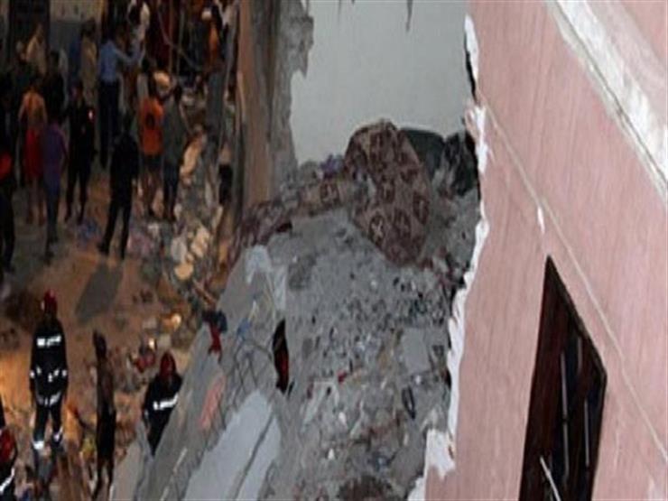 إصابة 4 أشخاص في انهيار جزئي لعقار بالسلام