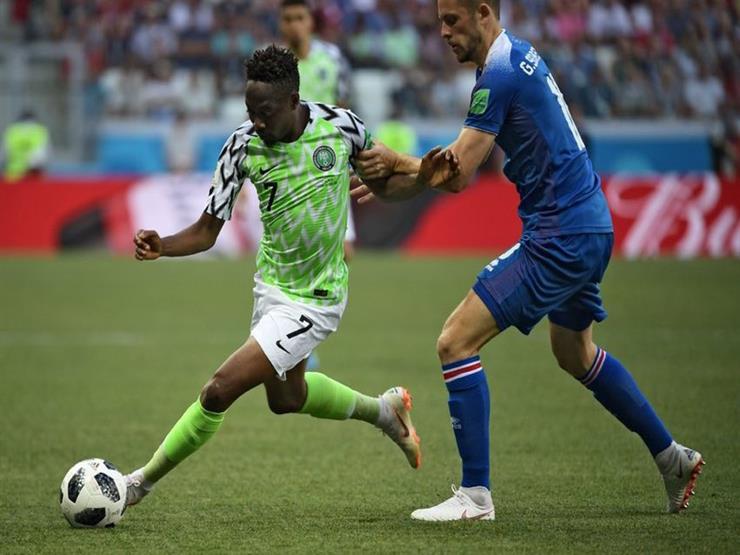 هدفا مباراة نيجيريا في أيسلندا