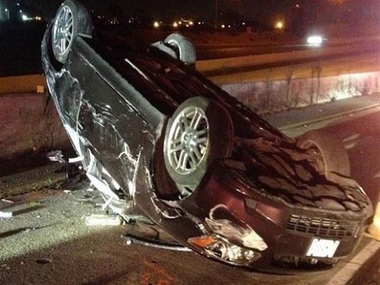 3 مصابين في انقلاب سيارة ملاكي بالداخلة