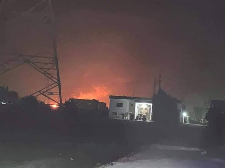 اللقطات الأولى لحادث اشتعال النيران في خط بترول إيتاي البارود (فيديو)