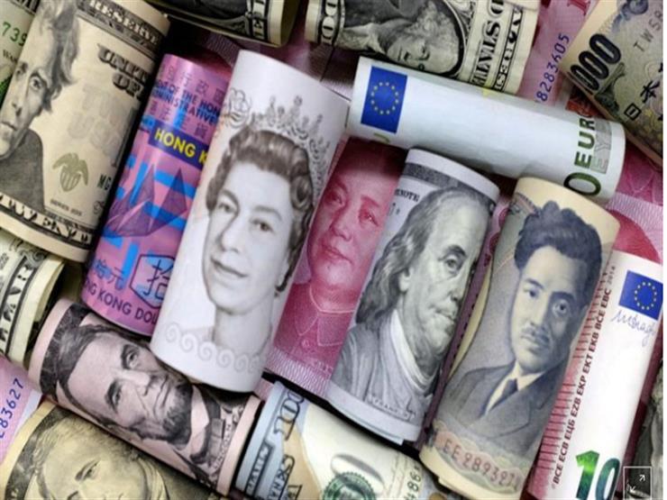 أسعار العملات الأجنبية يتراجع مقابل الجنيه في أسبوع