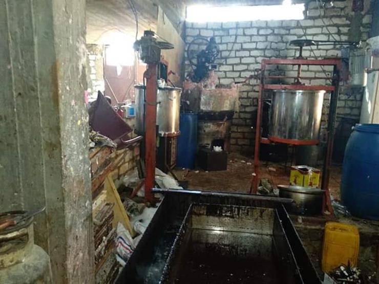 ضبط مصنع آيس كريم غير مرخص في بني سويف