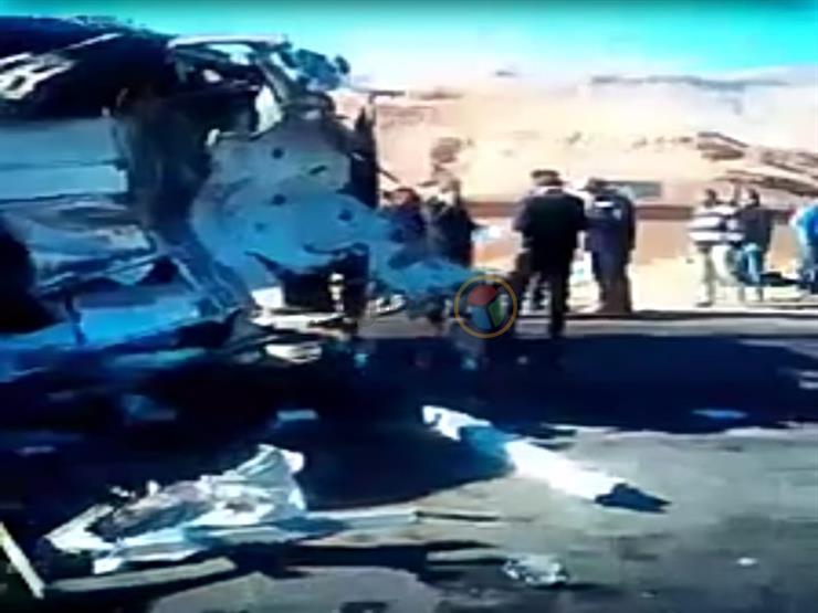 إصابة 11 شخصا في انقلاب أتوبيس بطريق دهشور الصحراوي بأكتوبر