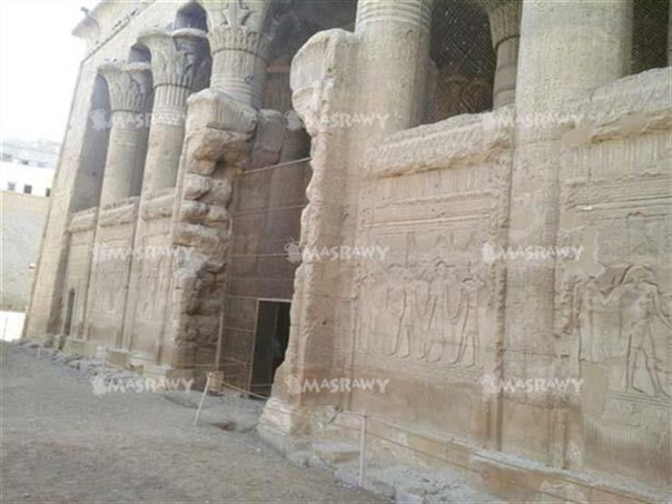 """سقوط جزء من السور الغربي لمعبد إسنا جنوب الأقصر.. والآثار: حررنا """"محضر"""""""