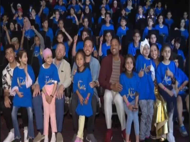 بالفيديو - ولي عهد الأردن يفاجئ أطفال مرضى السرطان بويل سميث