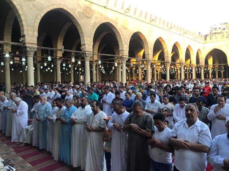 بالصور- صلاة عيد الأضحى بمسجد عمرو بن العاص | مصراوى
