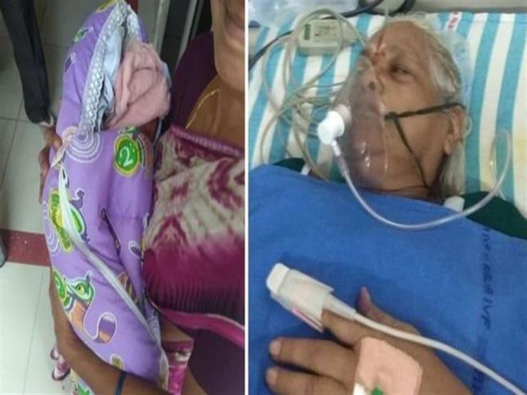 عجوز في السبعين تلد توأمتين في الهند