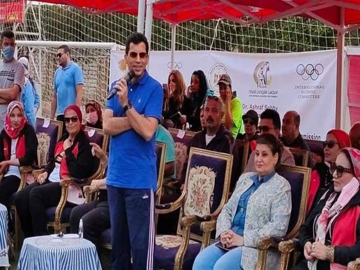 """وزير الشباب والرياضة: """"محور المحمودية"""" إنجاز يحسب للقيادة السياسية -صور"""