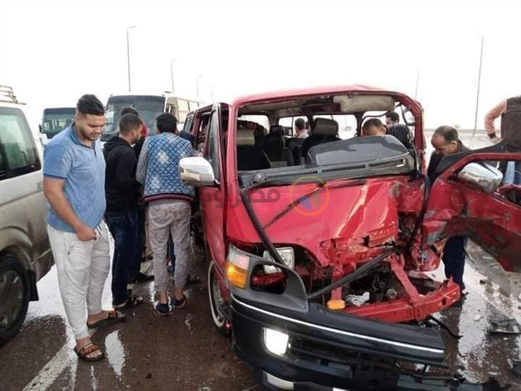 """إصابة 13 شخصًا في حادث تصادم بـ""""طنطا كفر الزيات"""""""