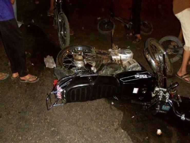 إصابة شخصين في حادث تصادم بدمياط
