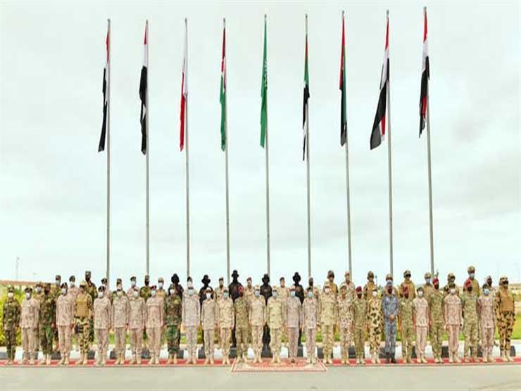 """6 جيوش عربية تجتمع بقاعدة محمد نجيب في تدريب """"سيف العرب"""" -  فيديو"""