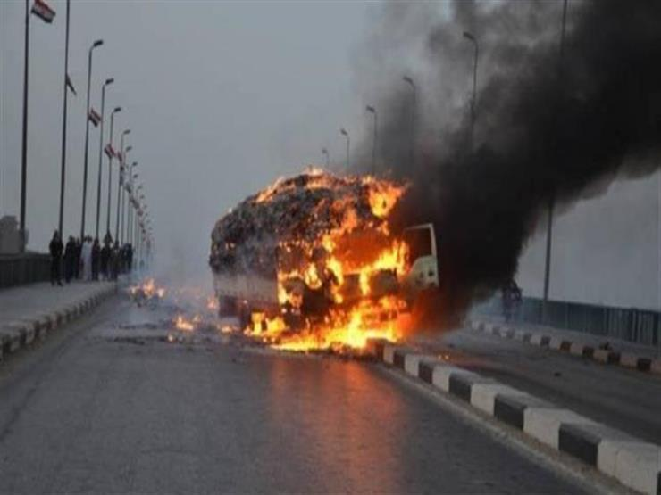 مصرع سائق وتباع إثر اشتعال النيران في مقطورة بأسيوط