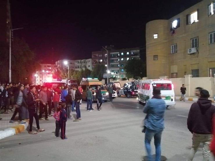 إصابة 5 أشخاص خلال حادث تصادم في بني سويف