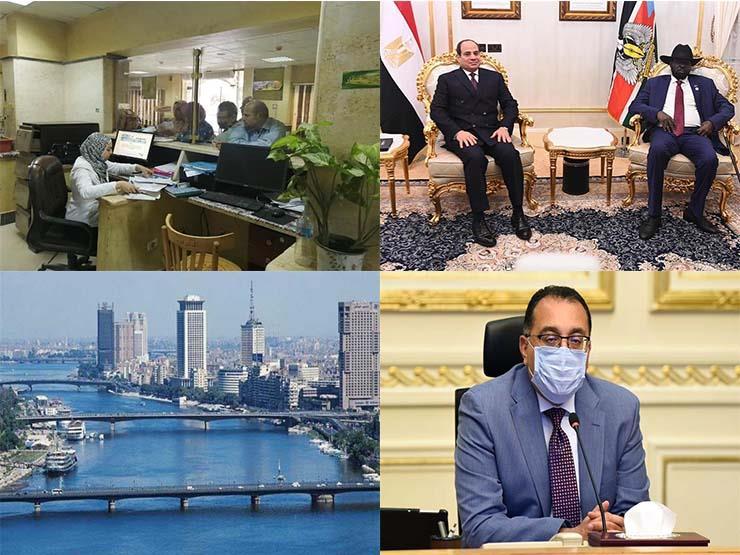 حدث في 8 ساعات| السيسي يبجث أزمة سد النهضة في جوبا.. وحقيقة خفض رواتب موظفي الحكومة