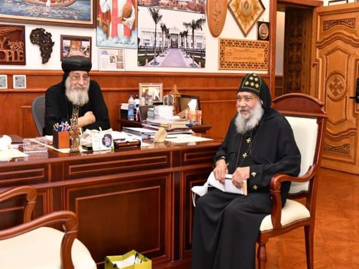 البابا تواضروس يستقبل قنصل مصر بهامبورج وأسقف برمنجهام