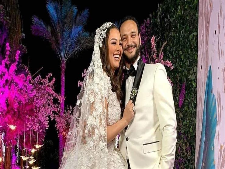"""بالفيديو  حفل زفاف هنادي مهنا.. """"هنيدي"""" بكمامة سوداء و""""الصاوي"""" وشيماء سيف يرقصان"""